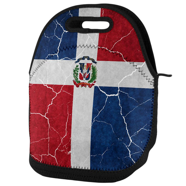 Distressed Dominican Republic Flag Lunch Tote Bag