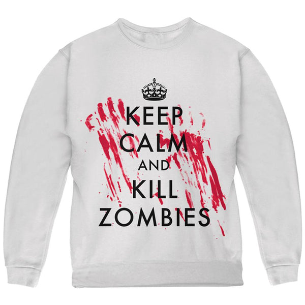 0700f9c7 Keep Calm and Kill Zombies Youth Sweatshirt