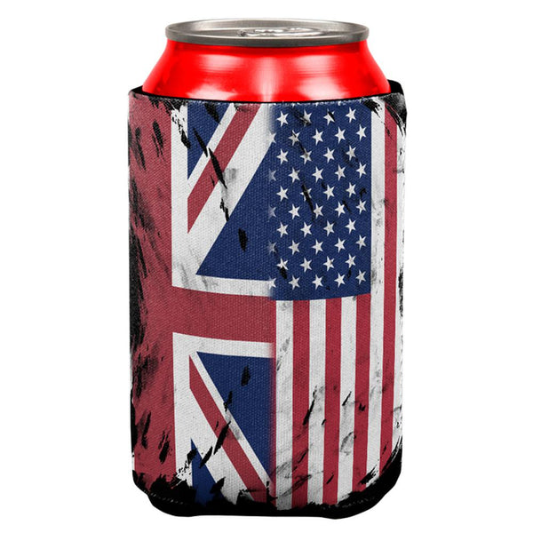 British UK American USA Flag All Over Can Cooler