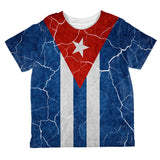 Distressed Cuban Flag All Over Toddler T Shirt