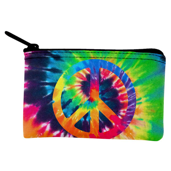 Peace Sign Tie Dye Coin Purse