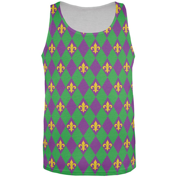 Mardi Gras Fleur De Lis All Over Mens Tank Top