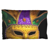 Mardi Gras Mask Pillow Case