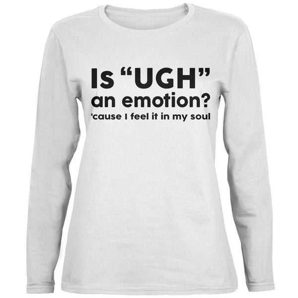 Funny Ugh Emotion Ladies' Relaxed Jersey Long-Sleeve Tee