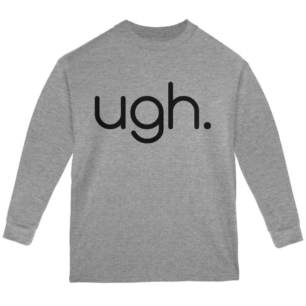 Funny Ugh Expression Youth Long Sleeve T Shirt