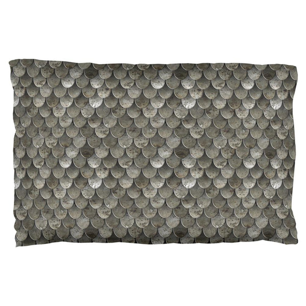Halloween Steel Scale Armor Pillow Case
