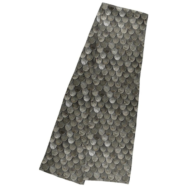 Halloween Steel Scale Armor Warm Fleece Scarf