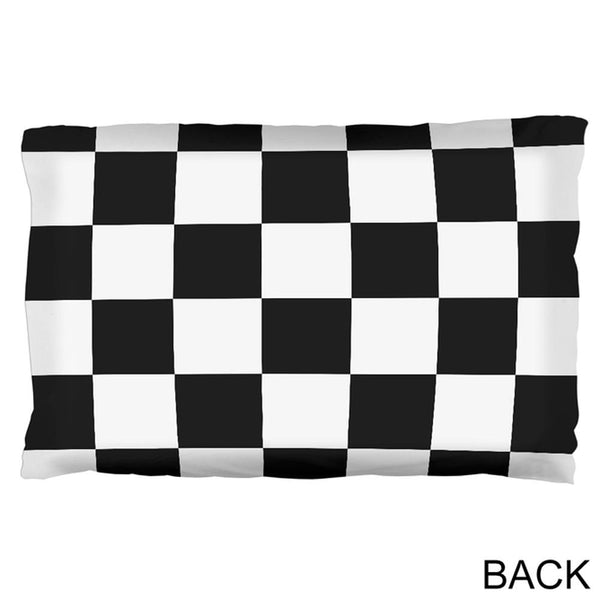 Finish Line Checkered Flag Pillow Case