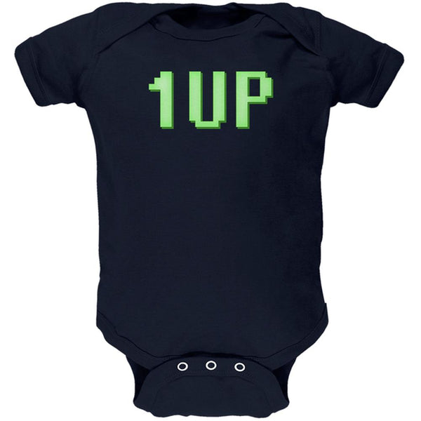 Gamer Geek Birthday 1 Up Extra Life Soft Baby One Piece