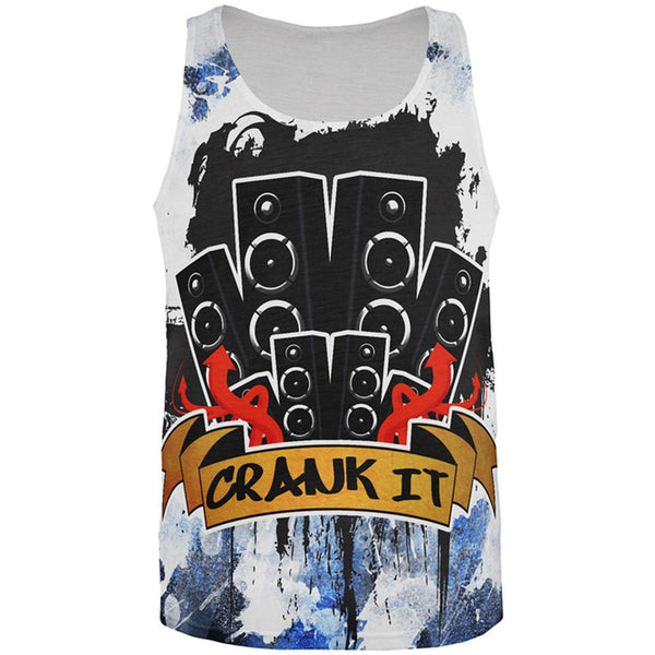 DJ Crank it to Eleven 11 Super Bass Speakers All Over Mens Tank Top