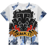 DJ Crank it to Eleven 11 Super Bass Speakers All Over Youth T Shirt