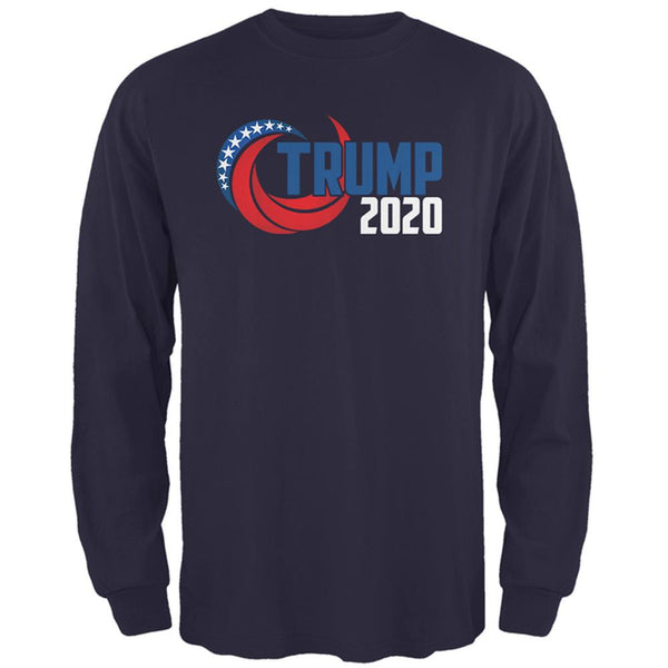Election Re-Elect Donald Trump 2020 Swoosh Mens Long Sleeve T Shirt