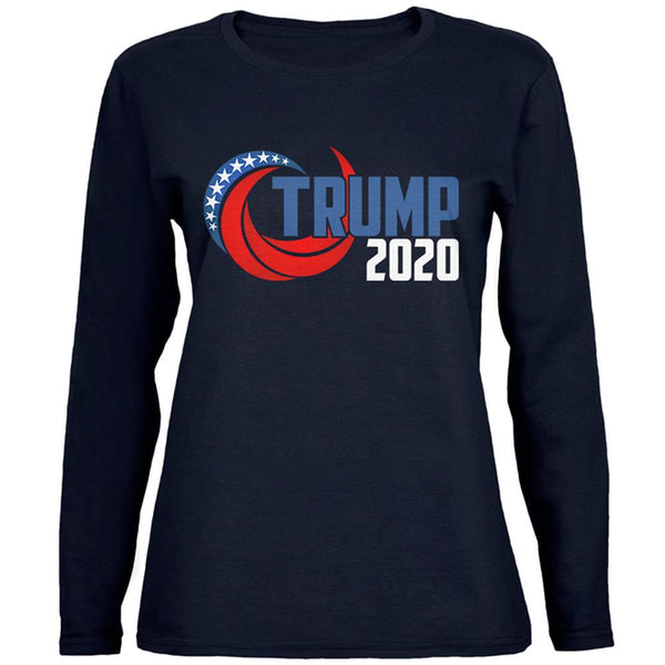 Election Re-Elect Donald Trump 2020 Swoosh Womens Long Sleeve T Shirt