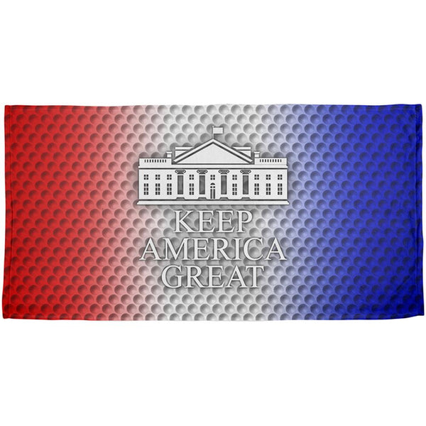 Re-Elect Trump 2020 Keep America Great Golf All Over Beach Towel
