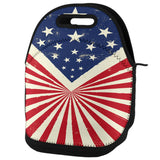 4th Of July American Flag Starburst Lunch Tote Bag