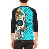 Sugar Skull Mens Raglan T Shirt