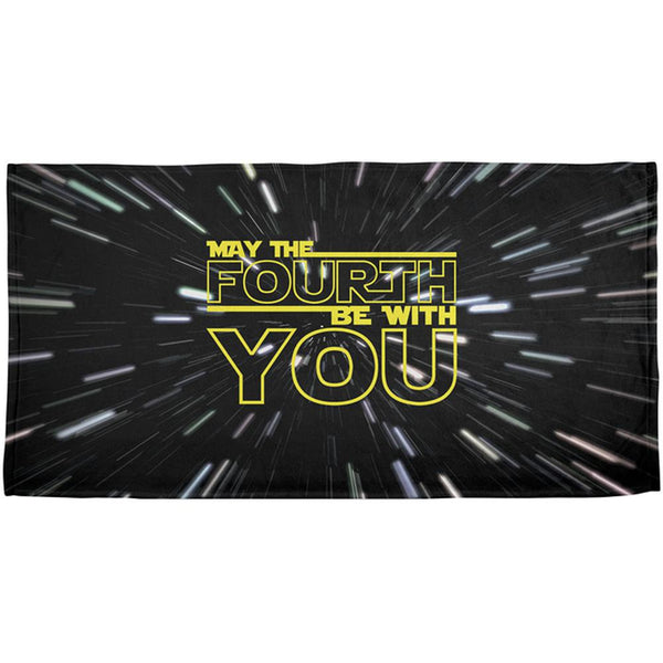 May The Fourth Be With You All Over Beach Towel