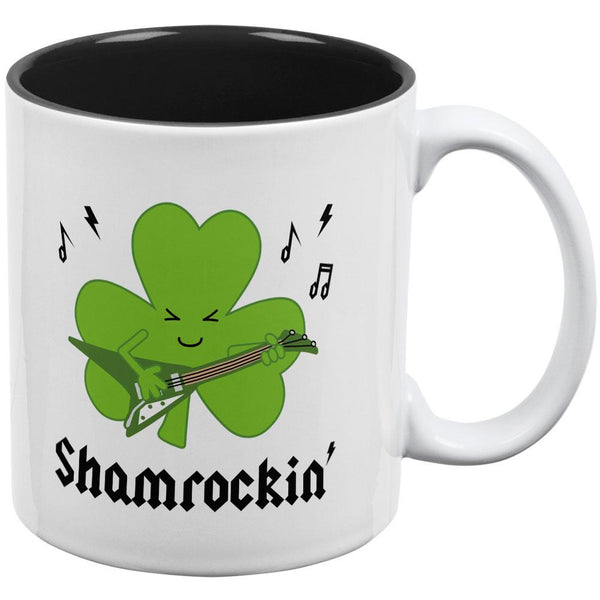 St. Patrick's Day Shamrock Guitar Shamrockin' All Over Coffee Mug