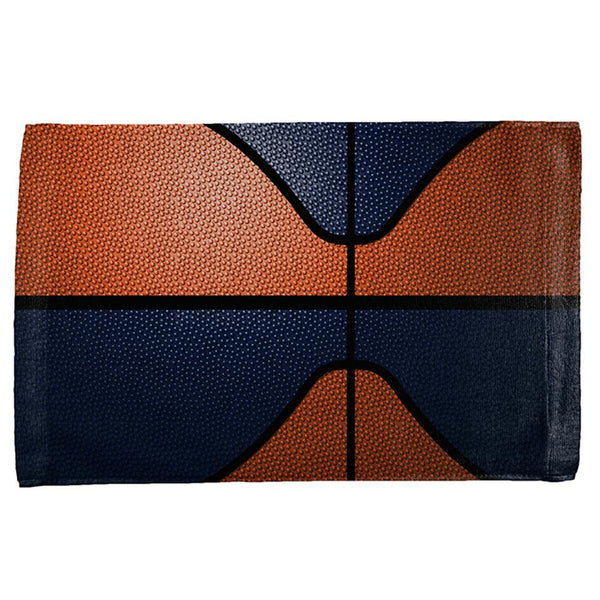 Championship Basketball Orange & Navy All Over Sport Towel