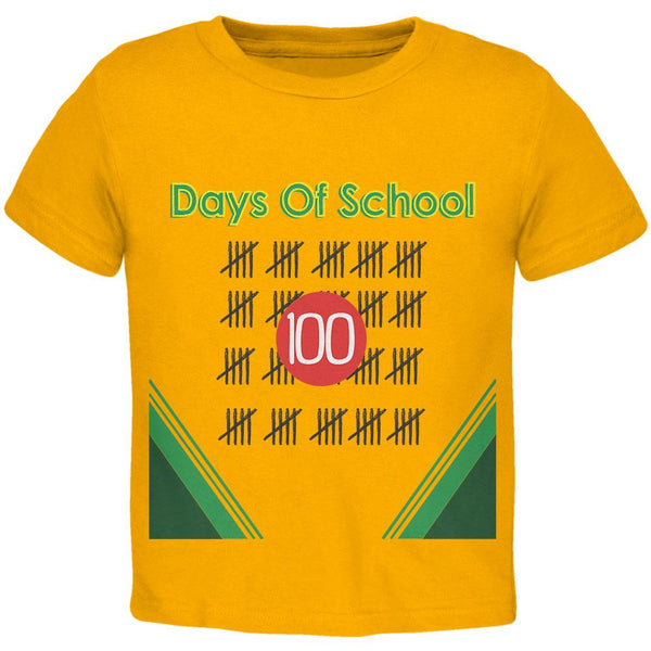 100 Days Of School Crayon Toddler T Shirt