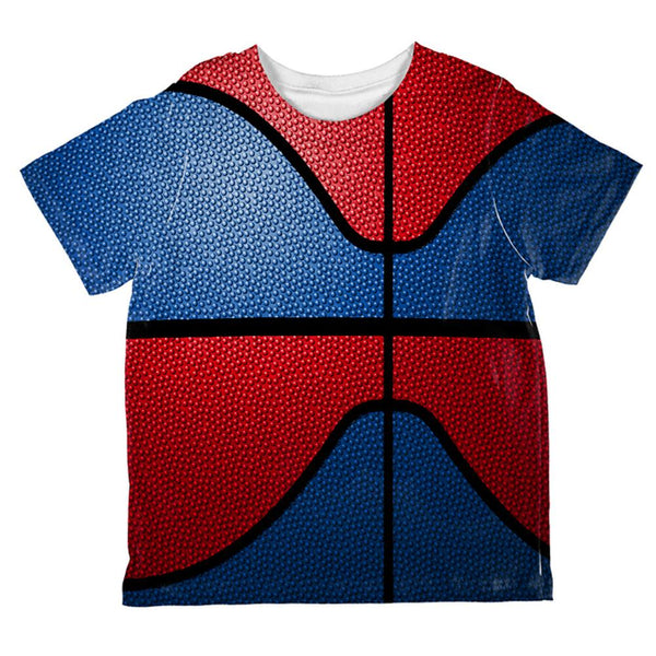 Championship Basketball Royal Blue & Red All Over Toddler T Shirt
