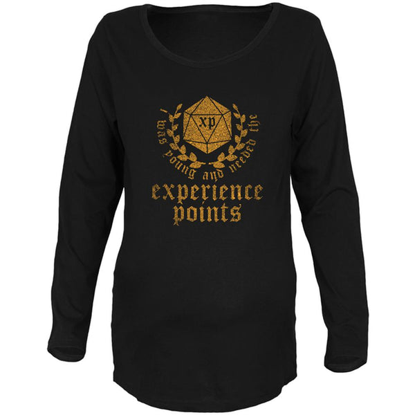Young and Needed the Experience Points Maternity Soft Long Sleeve T Shirt