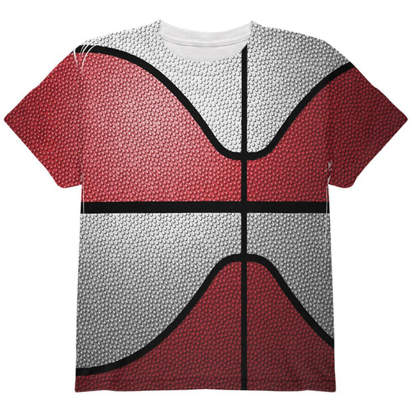 Championship Basketball Red & White All Over Youth T Shirt