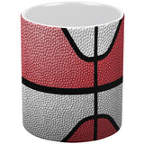 Championship Basketball Red & White All Over Coffee Mug