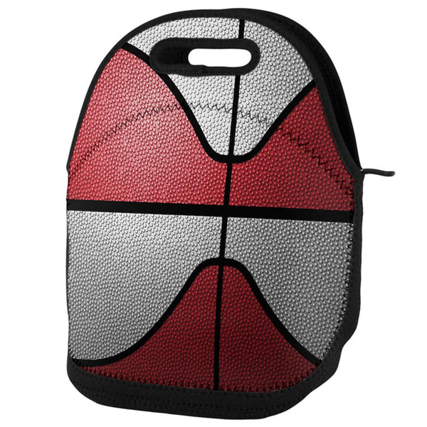Championship Basketball Red & White Lunch Tote Bag