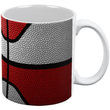 Championship Basketball White & Red All Over Coffee Mug