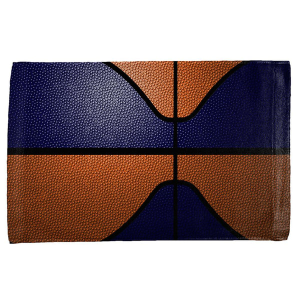 Championship Basketball Navy & Orange All Over Sport Towel