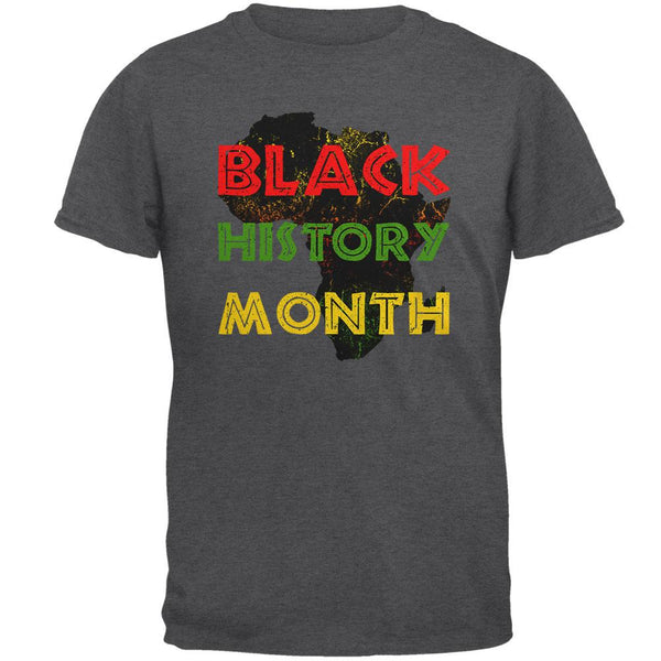 Black History Month Africa Distressed Mens T Shirt