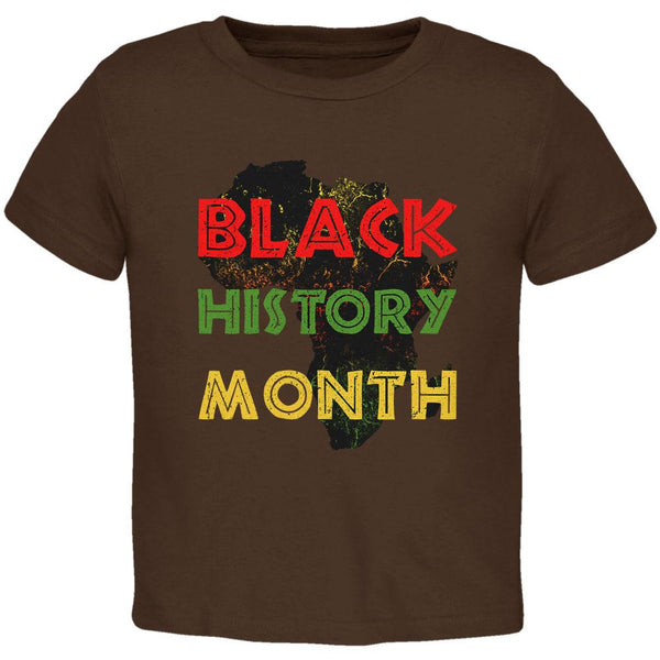 Black History Month Africa Distressed Toddler T Shirt