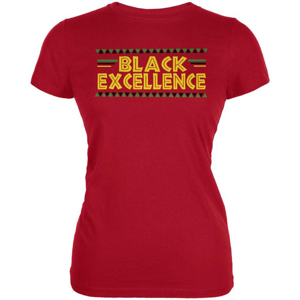Black History Month Excellence Pan African Colors Juniors Soft T Shirt