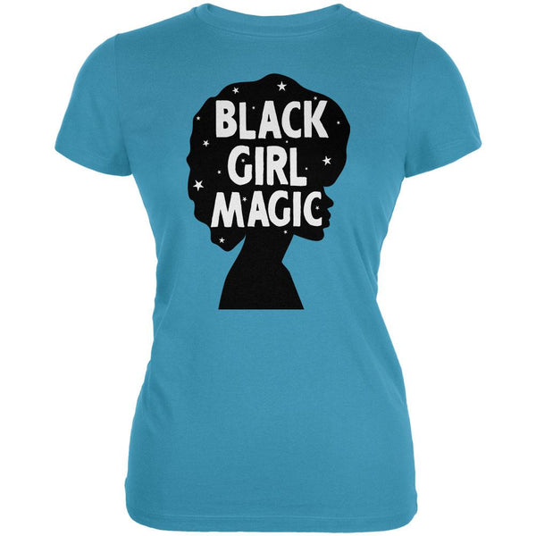 Black History Month Black Girl Magic Afro Juniors Soft T Shirt