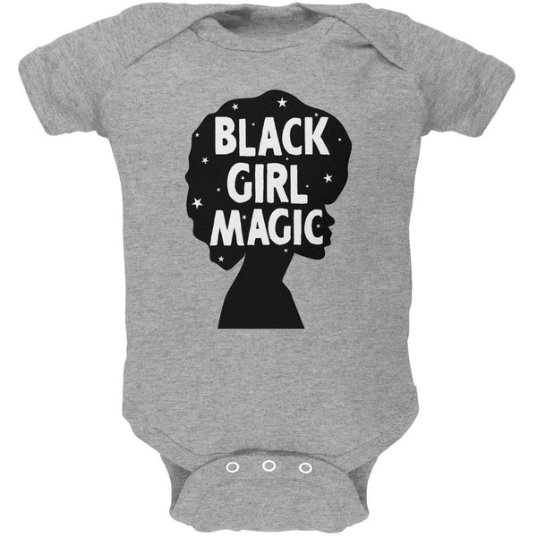 Black History Month Black Girl Magic Afro Soft Baby One Piece
