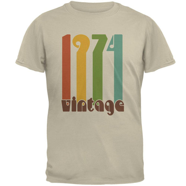 Milestone Birthday 1974 70's Color Bar Mens T Shirt