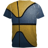 Championship Basketball Navy & Gold All Over Mens T Shirt