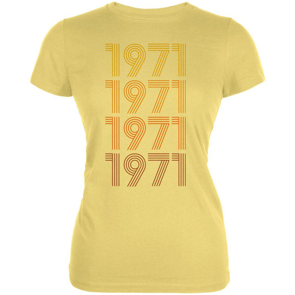 Retro Vintage Flashback Paralines Birthday 1971 Juniors Soft T Shirt