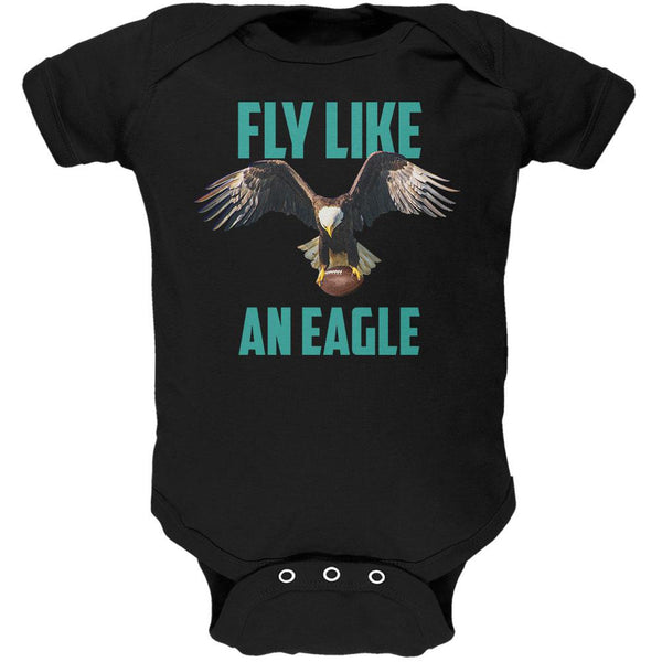 Fly Like an Eagle Flying Football Soft Baby One Piece