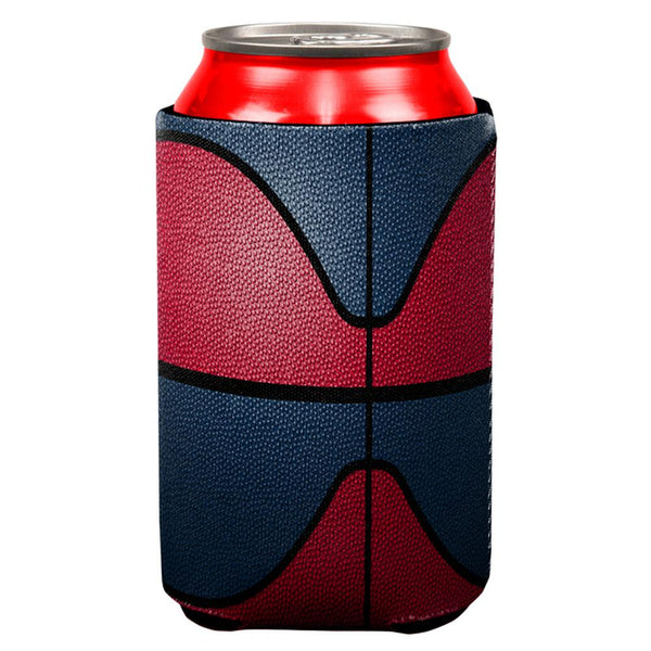 Championship Basketball Red & Navy Blue All Over Can Cooler