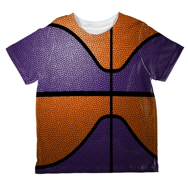 Championship Basketball Orange & Purple All Over Toddler T Shirt
