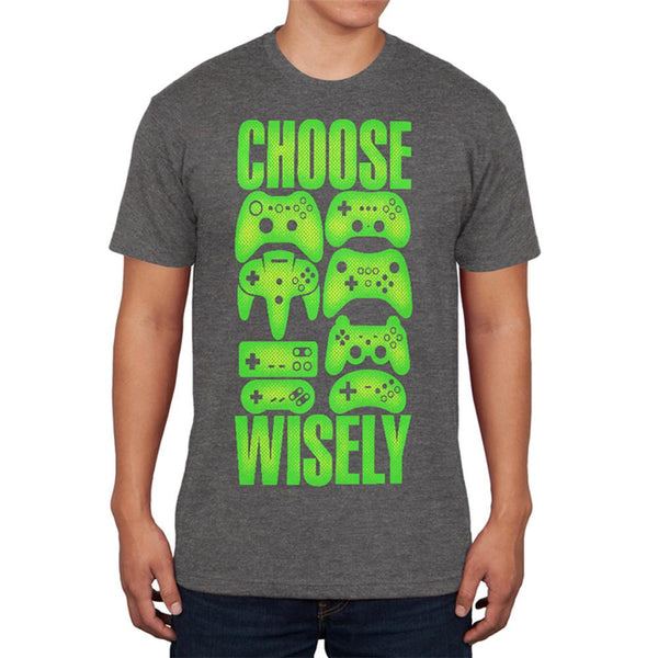 Choose Your Weapon Wisely Video Games Mens Soft T Shirt