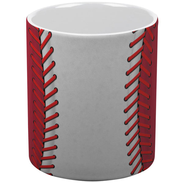 Baseball League White and Red All Over Coffee Mug