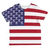 4th of July American Pi Flag All Over Toddler T Shirt