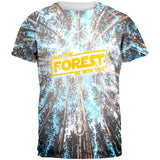 Earth Day May the Forest be with You All Over Mens T Shirt