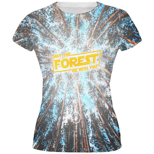 Earth Day May the Forest be with You All Over Juniors T Shirt