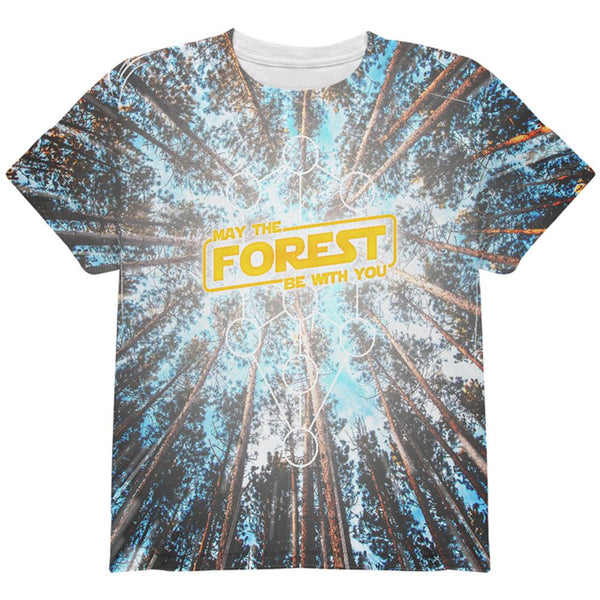 Earth Day May the Forest be with You All Over Youth T Shirt