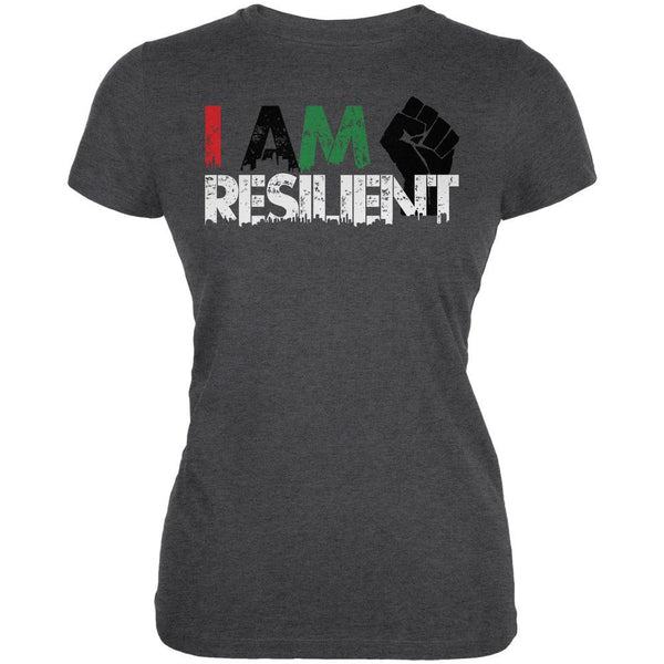 Black History Month Pride I Am Resilient Juniors Soft T Shirt