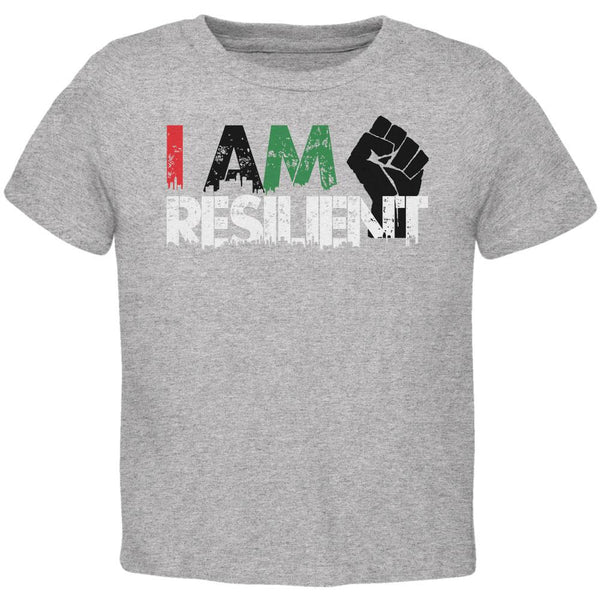 Black History Month Pride I Am Resilient Toddler T Shirt